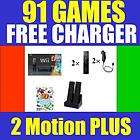 NINTENDO Wii CONSOLE SYSTEM 2 PLAYERS CHARGER 36 GAMES 045496880019