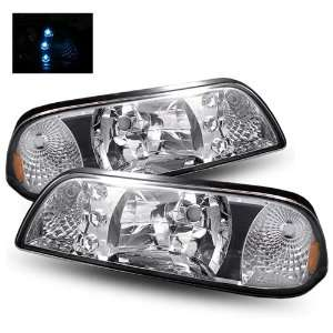 87 93 Ford Mustang Chrome LED Headlights Automotive
