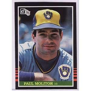 1985 Donruss #359 Paul Molitor [Misc.]