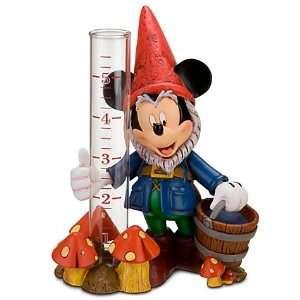Disney Mickey Mouse Garden Gnome Rain Gauge Patio, Lawn