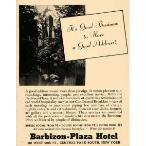 Plaza Hotels Continental Breakfast   Original Print Ad