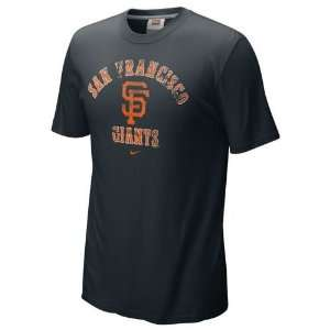 San Francisco Giants Slidepiece T Shirt (Black)  Sports