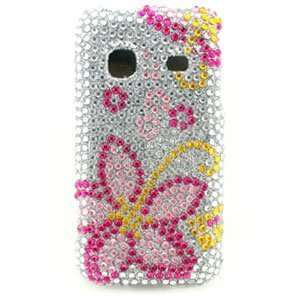 Premium Pink Flower Jewel Snap On for Samsung Galaxy Prevail SPH M820