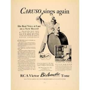 RCA Victor Bi Acoustic Tone Radio   Original Print Ad