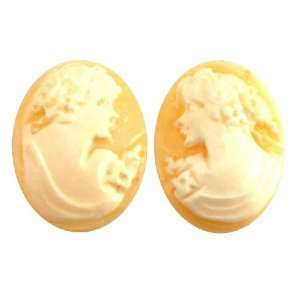 20X16mm Shell Hand Carved Cameo Facing Pair   Pack of 2
