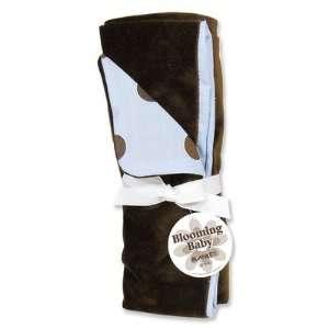 Max Polka Dot Reversible Velour Baby Blanket