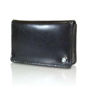 BMW Genuine Black Leather Business Card Case Holder OEM