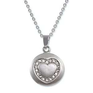 16 + 2 NON TARNISH RHODIUM SILVER TONE CRYSTAL HEART