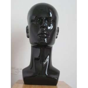 New Black Male Mannequin Head for Fashion Wig/hat/jewelry