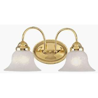 Unique Design 1532 02 Edgemont Bath Light Fixture  Polished Brass