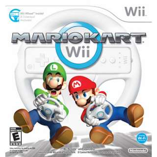 MARIO KART 4 Player Wii Racing Car Game w/ Wheel Sealed 045496901028