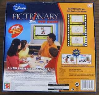 Disney Pictionary DVD Board Game 2007 Mattel Complete