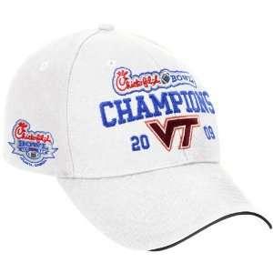 adidas Virginia Tech Hokies White 2009 Chick fil A Bowl Champions
