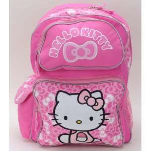 Sanrio Hello Kitty Bow Large Backpack with Hello Kitty Long Toothbrush