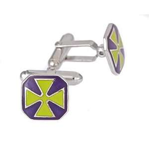 blue and green enamel with Maltese cross design with presentation box