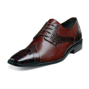 Stacy Adams Conti Mens Leather Shoes Brown Multi 24672