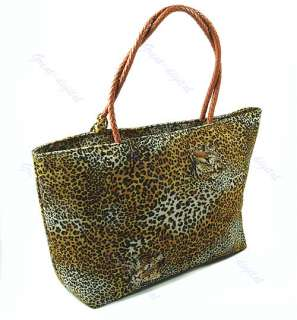 Women Lady Leopard Grain Print Design Handbag Single Shoulder Purpose
