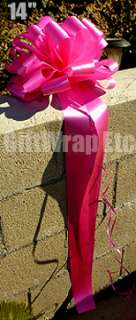 BIG 14 HOT PINK FUCHSIA BOWS GIFT VALENTINES SWEET 16 DECORATIONS