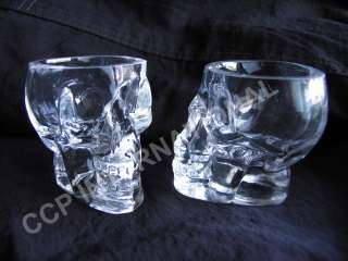 Crystal Skull Head Shot Glass (Two shot glasses)