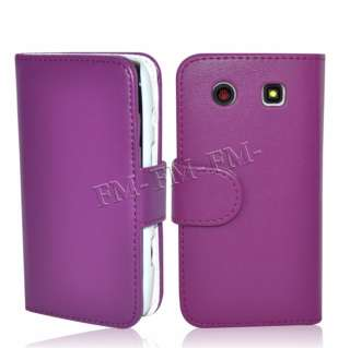 Book Leather Wallet Case Cover Pouch For Blackberry 9860 Torch Monaco