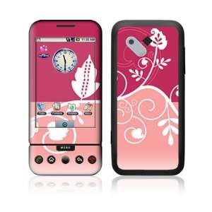 HTC Google G1 Decal Vinyl Skin   Pink Abstract Flower