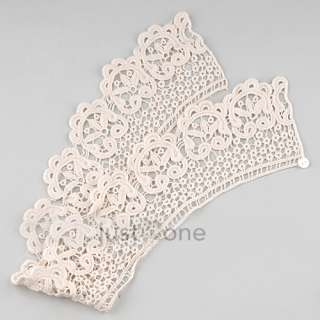 Women Lady Girl Lace Flower Fake extra removable Collar Neck Shawl