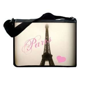 Love Eiffel Tower Messenger & Laptop Bag: Electronics
