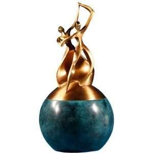 Dance of Life Double Urn Antique Bronze Verde Patina: Home & Kitchen