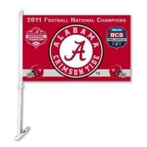 NCAA Alabama Crimson Tide 2011 BCS National Champions Car Flag