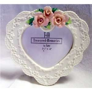 Ganz Resin Heart Shaped Picture Frame: Home & Kitchen