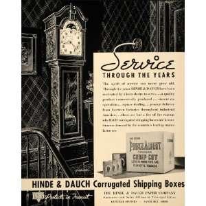 1937 Ad Hinde Dauch Corrugated Tobacco Prince Albert