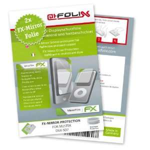 2 x atFoliX FX Mirror Stylish screen protector for Mustek DVX