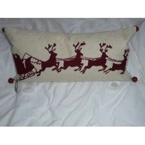 Pottery Barn Christmas Holiday Santa Lumbar Pillow
