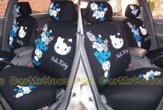 Hello Kitty Blue Flowers Car Seat Cover 10 pcs