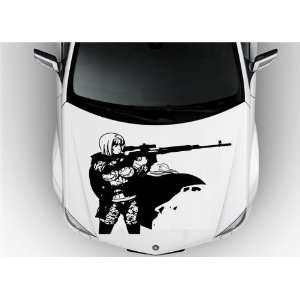 Anime Car Vinyl Graphics Girl with Guns S6883 Home