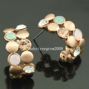 18K Rose Gold GP Swarovski Crystal Stud Earring E401