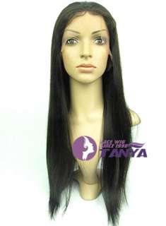 Virgin Hair 8   20 Yaki Straight remy Human hair Lace Wigs CUSTOM