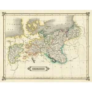 Lizars 1831 Antique Map of Prussia