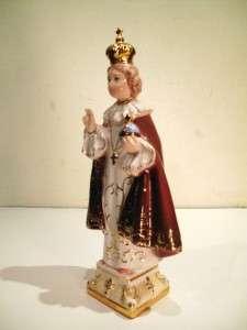 ITALIAN PORCELAIN INFANT PRAGUE STATUE JESUS RELIGIOUS