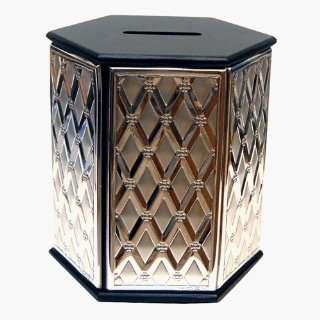 Silver & Wood Tzedakah Box   16067