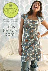 Amy Butler Pattern  Lotus Tunic  Top, Dress, Cami