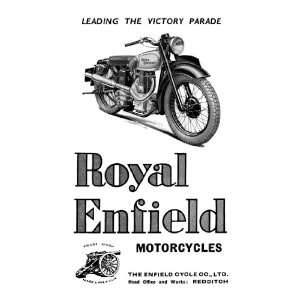 Royal Enfield Motorcycles Leading the Victory Parade 20X30 Poster