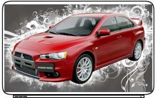Cars Mitsubishi Lancer Laptop Netbook Skin Decal Cover