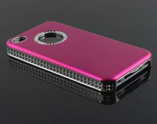 Luxury Bling Diamond Crystal Hard Back Case Cover For Apple iPhone 4S