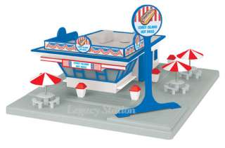 MTH Model Coney Island Concession Hot Dog Stand Building New 3090309