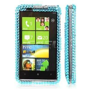 Ecell   SKY BLUE HELLO KITTY CRYSTAL BLING CASE FOR HTC