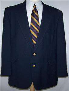 Tall SOLID DARK NAVY BLUE GOLD 2 Btn sport coat jacket suit blazer men