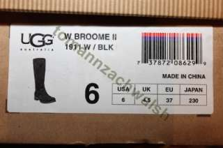 UGG Broome II 1911 Black Tall Winter Boot SZ 6 NIB $260