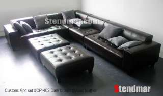 164W NEW MODERN EURO DESIGN RED LEATHER SOFA S4709C