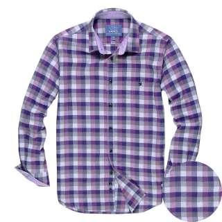 Mens Casual Shirts Mens Checkboard Long Sleeve Flannel Shirt Checks 5